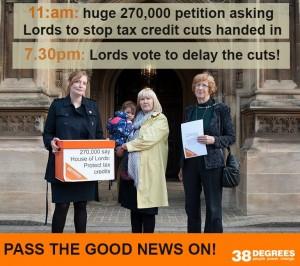 Lords tax credits