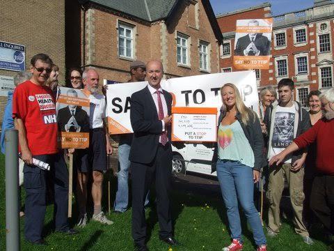 Members meeting Geraint Davies MP in Swansea West