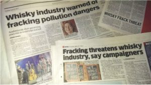 Newspapers with coverage of 38 Degrees' fracking analysis