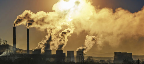 Pollution from a power plant